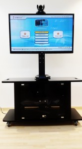 video conference trolley front